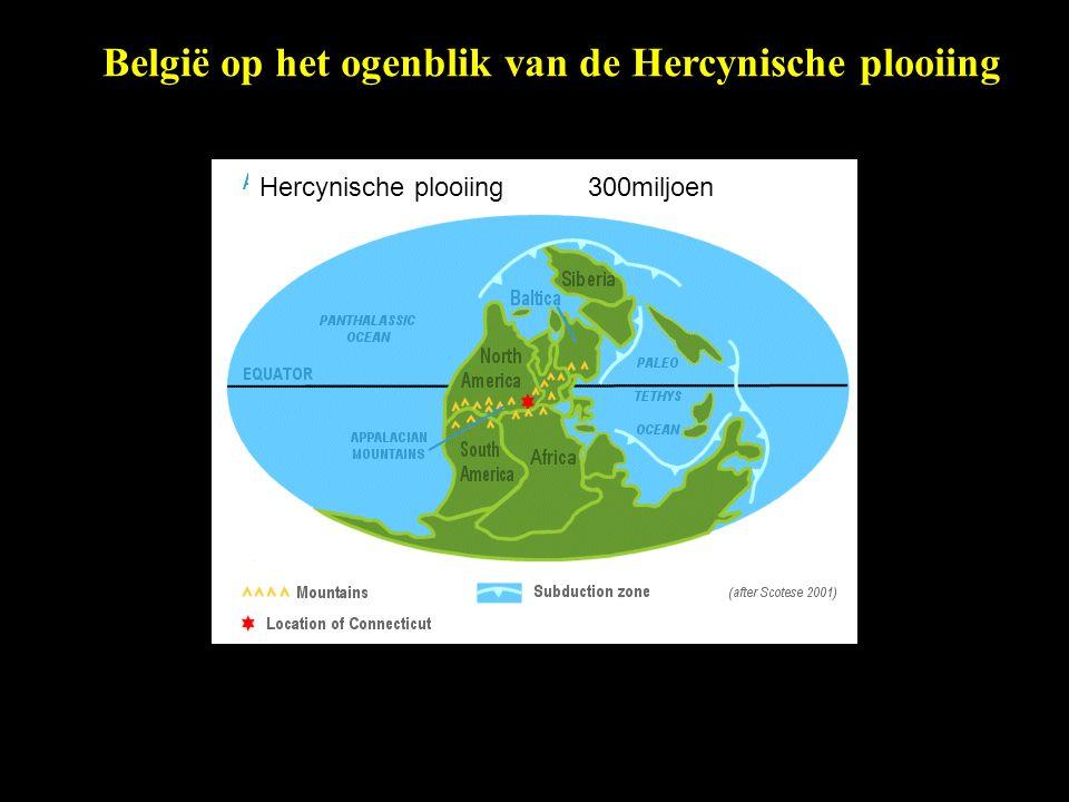 België op het ogenblik van de Hercynische plooiing