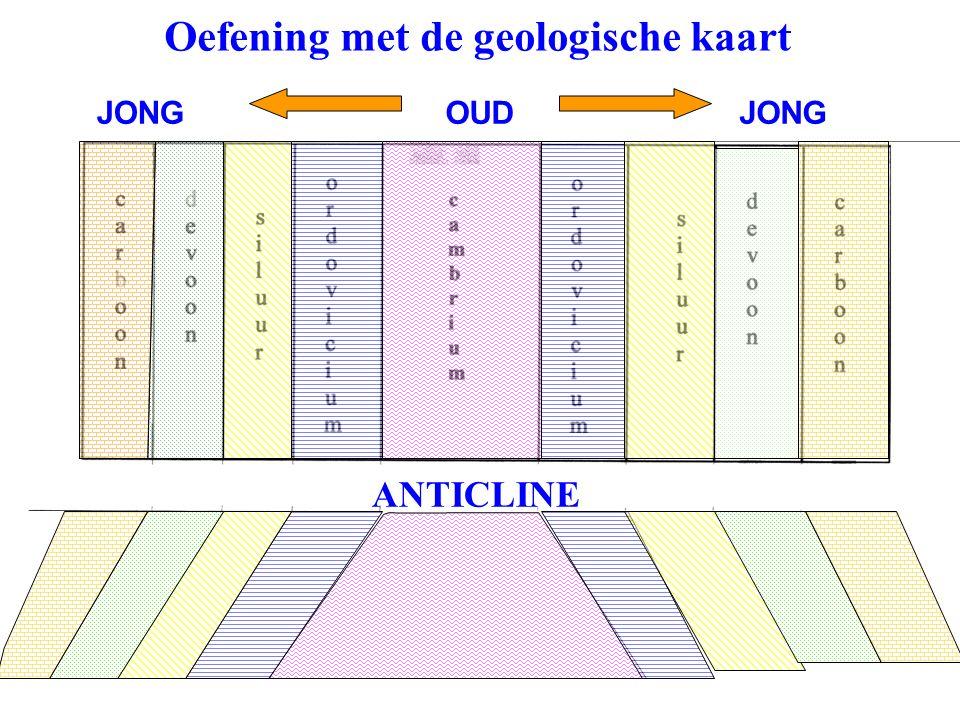Oefening met de geologische kaart