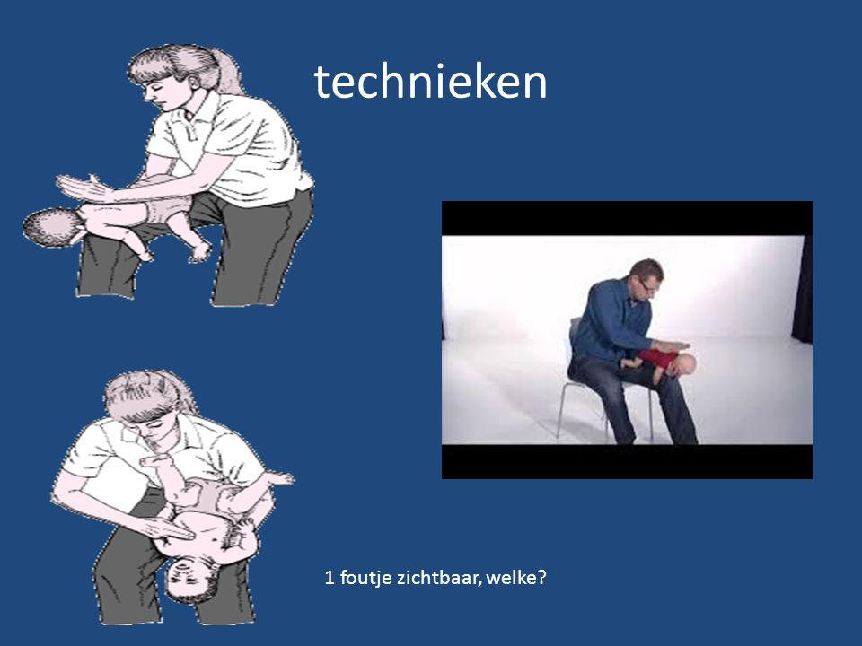 technieken 1 foutje zichtbaar, welke