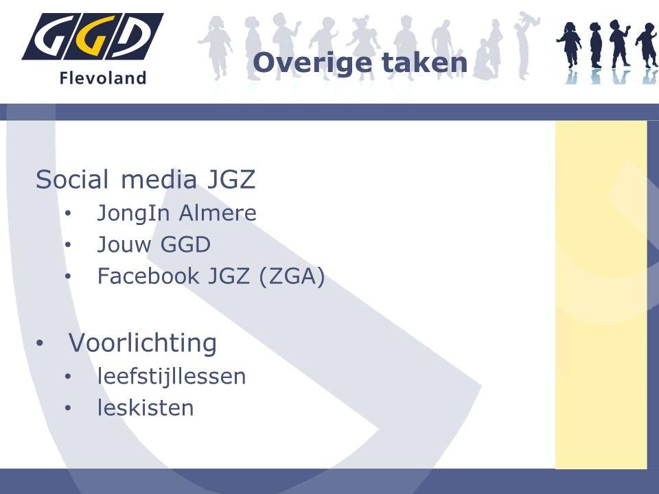 Overige taken Social media JGZ Voorlichting JongIn Almere Jouw GGD