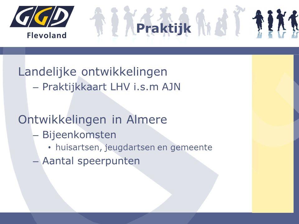 Praktijk Landelijke ontwikkelingen Ontwikkelingen in Almere