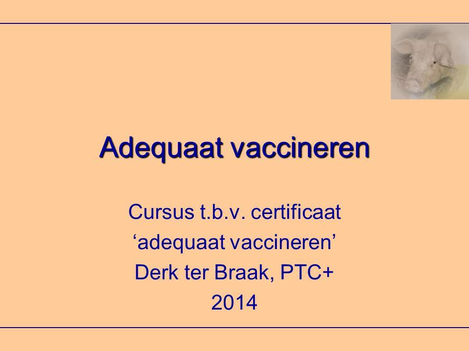 Adequaat vaccineren Cursus t.b.v. certificaat 'adequaat vaccineren'