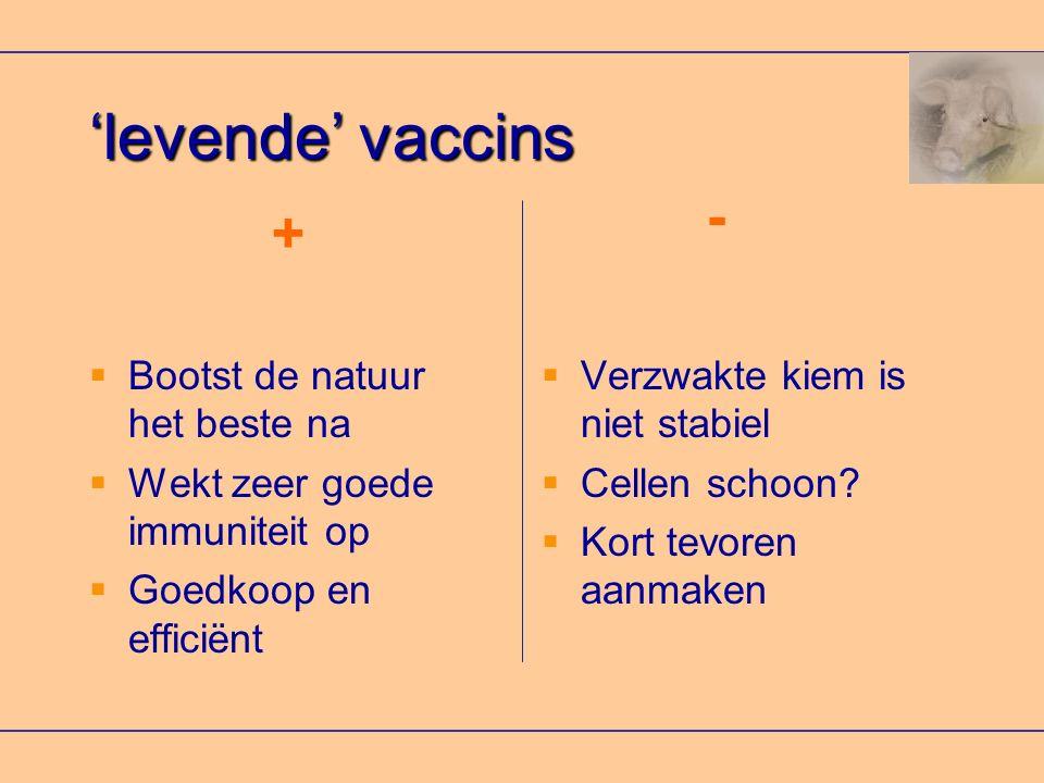 'levende' vaccins - + Bootst de natuur het beste na