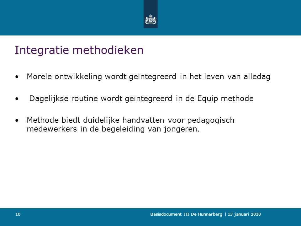 Integratie methodieken