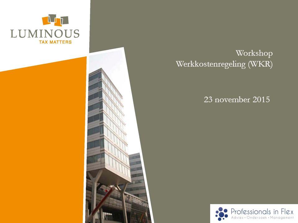 Workshop Werkkostenregeling (WKR)
