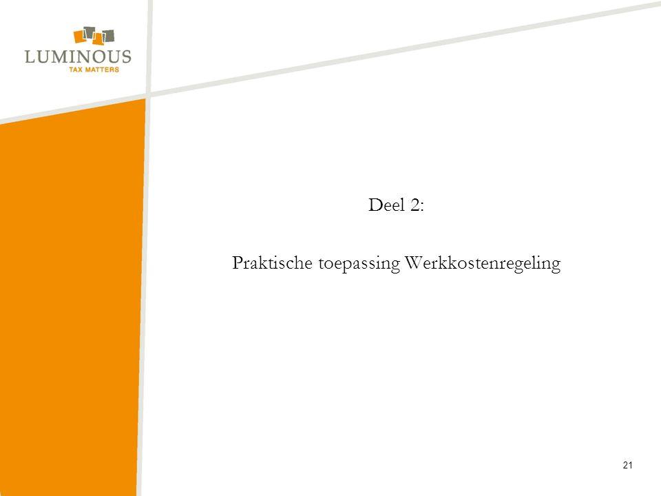 Deel 2: Praktische toepassing Werkkostenregeling
