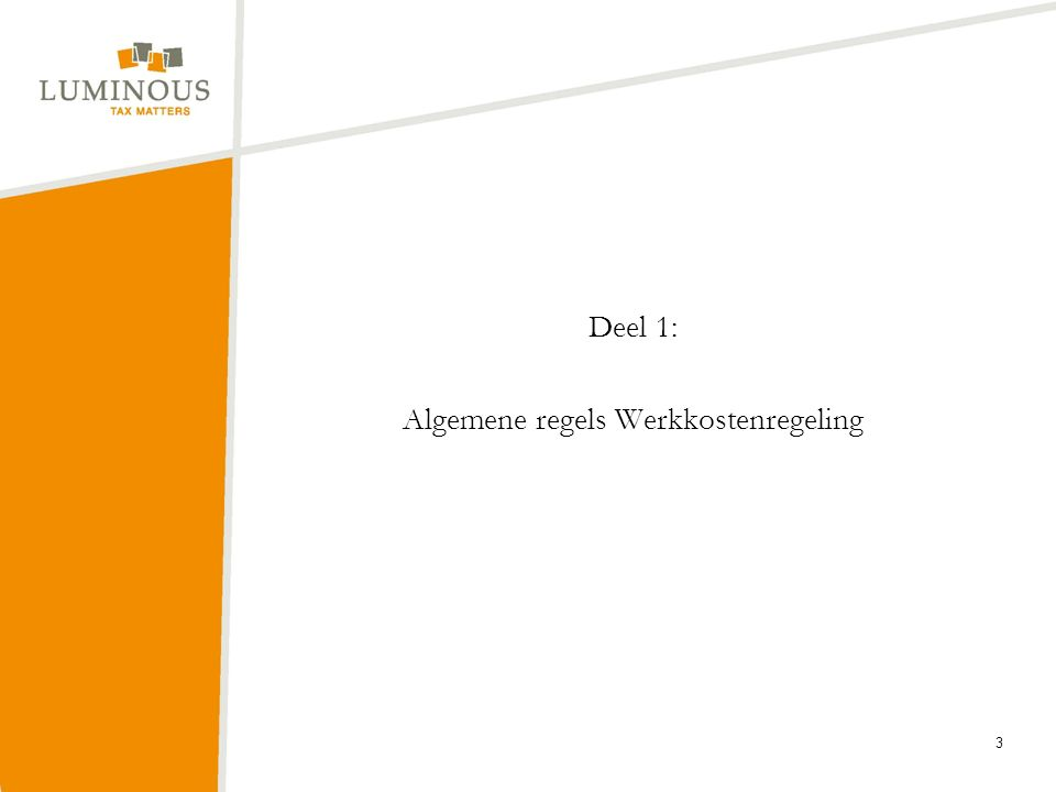 Deel 1: Algemene regels Werkkostenregeling