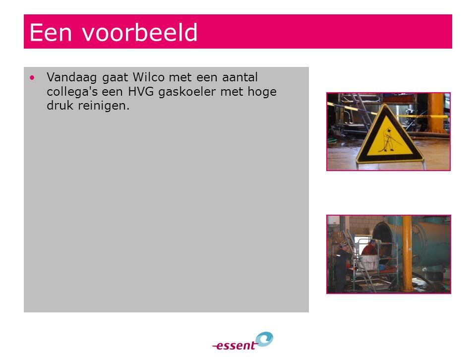 Een voorbeeld Vandaag gaat Wilco met een aantal collega s een HVG gaskoeler met hoge druk reinigen.