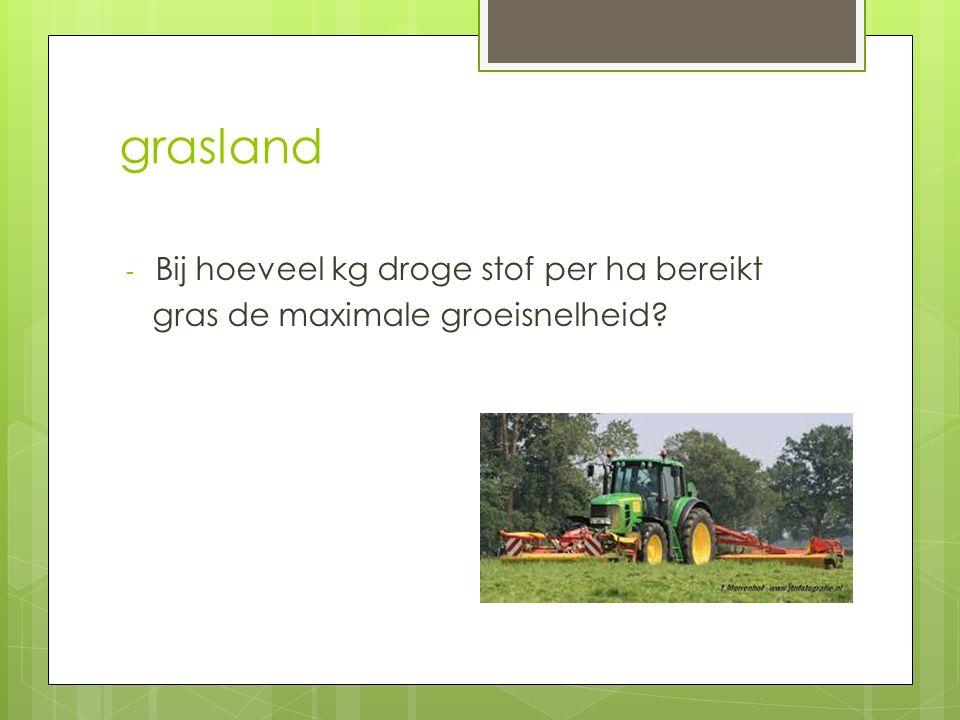 grasland Bij hoeveel kg droge stof per ha bereikt