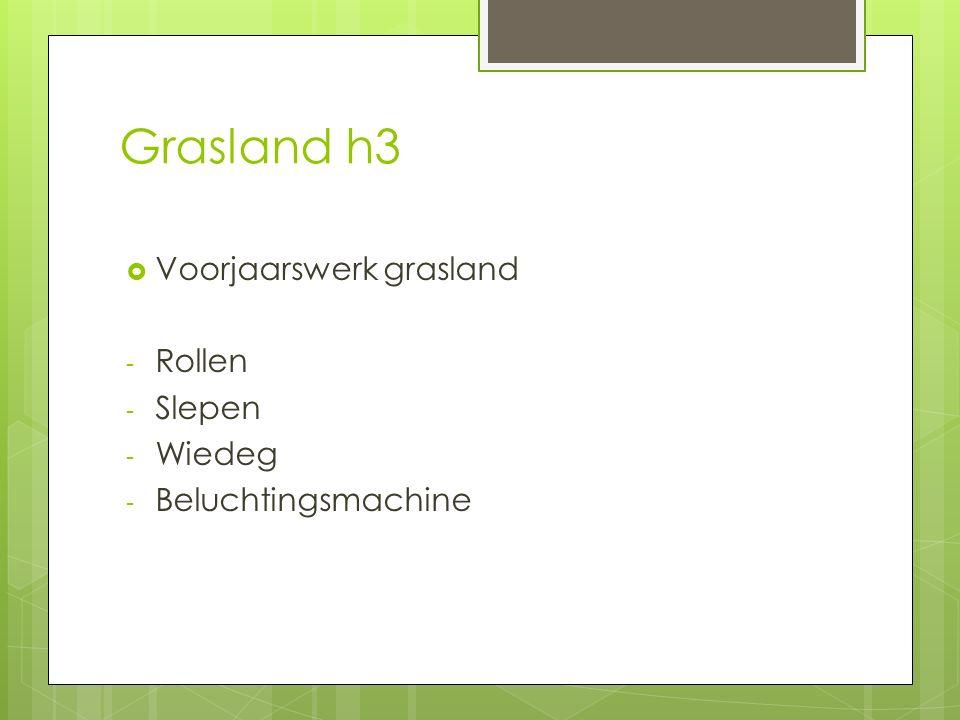 Grasland h3 Voorjaarswerk grasland Rollen Slepen Wiedeg