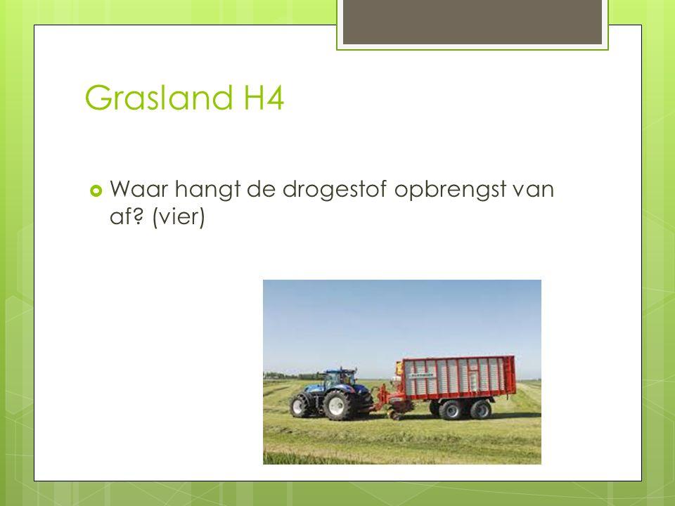 Grasland H4 Waar hangt de drogestof opbrengst van af (vier)