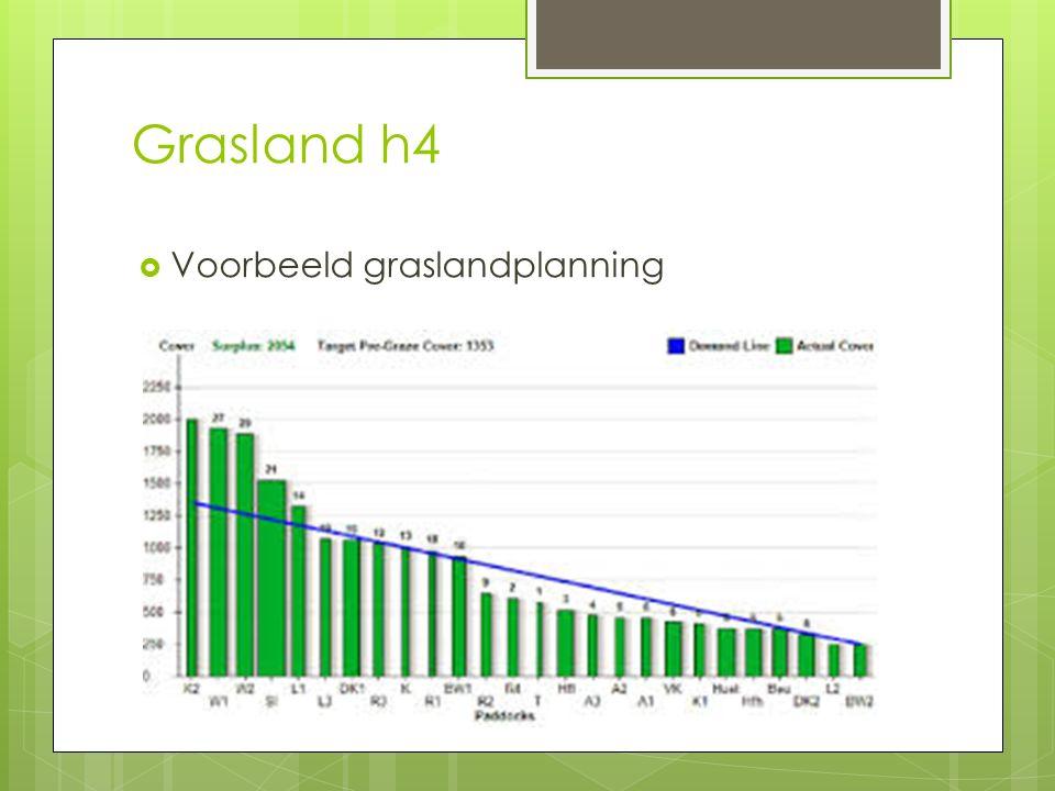 Grasland h4 Voorbeeld graslandplanning