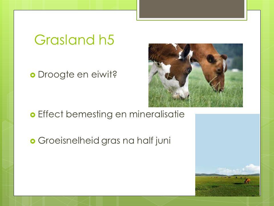 Grasland h5 Droogte en eiwit Effect bemesting en mineralisatie