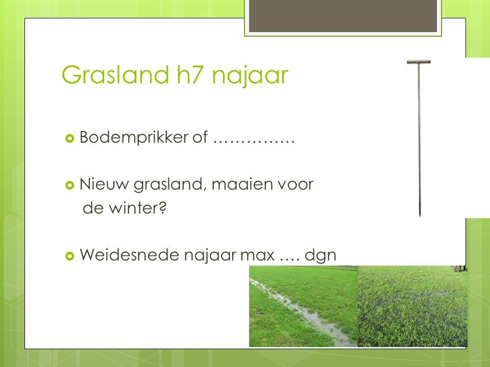 Grasland h7 najaar Bodemprikker of …………… Nieuw grasland, maaien voor