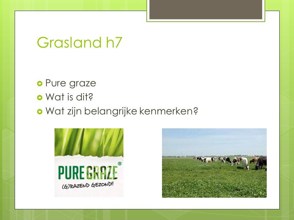 Grasland h7 Pure graze Wat is dit Wat zijn belangrijke kenmerken