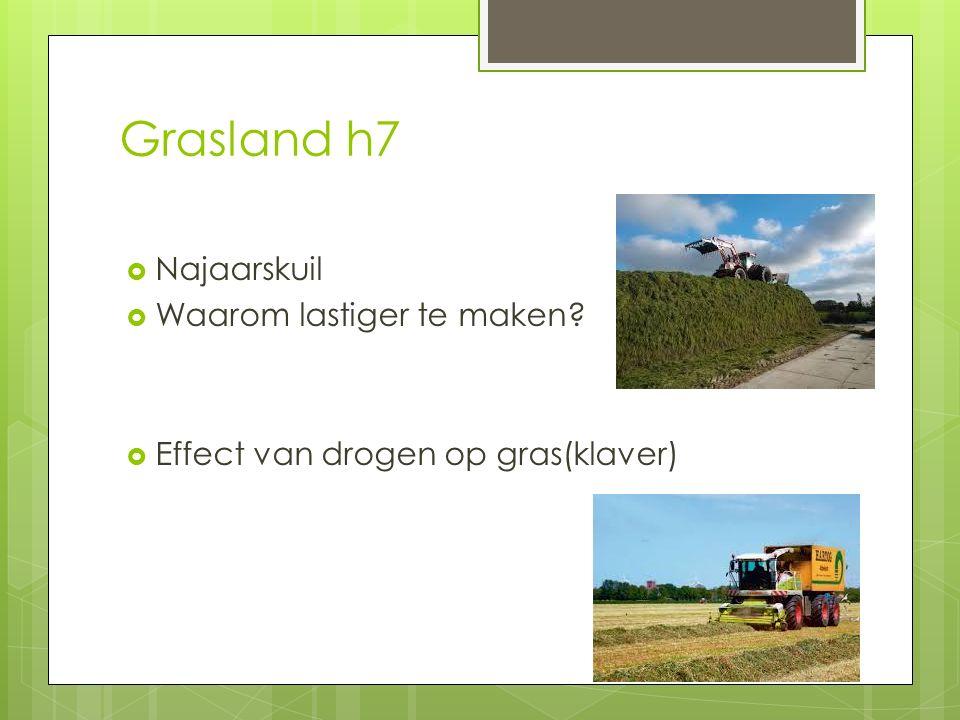 Grasland h7 Najaarskuil Waarom lastiger te maken