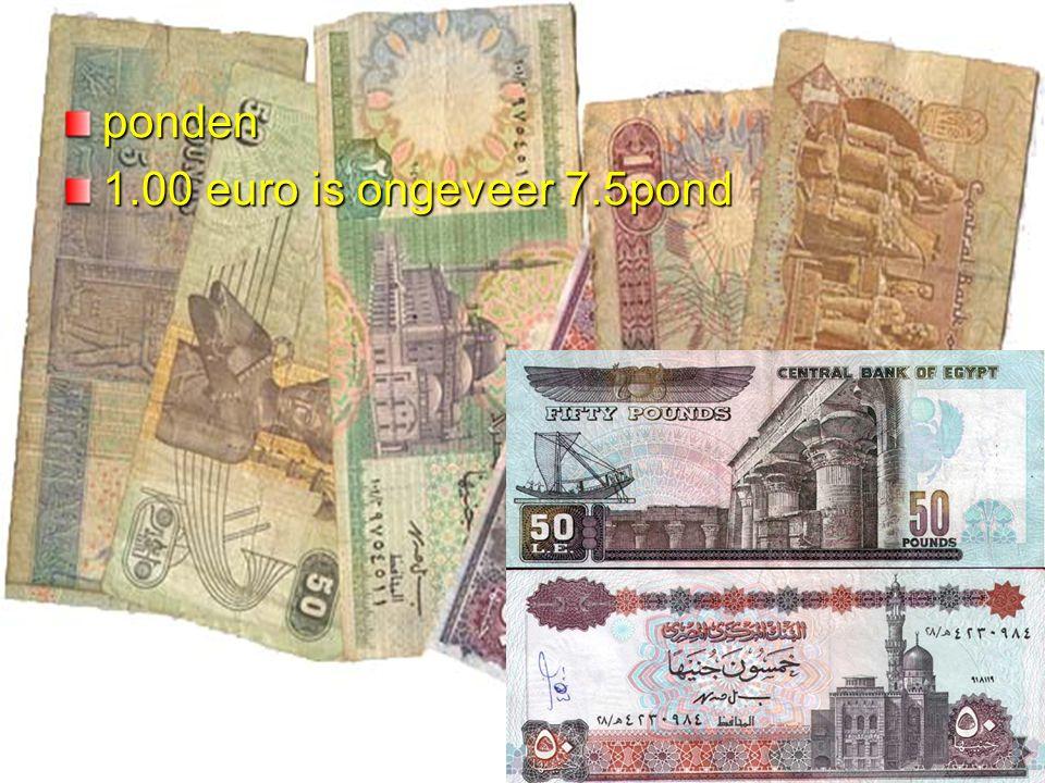 Het geld ponden 1.00 euro is ongeveer 7.5pond