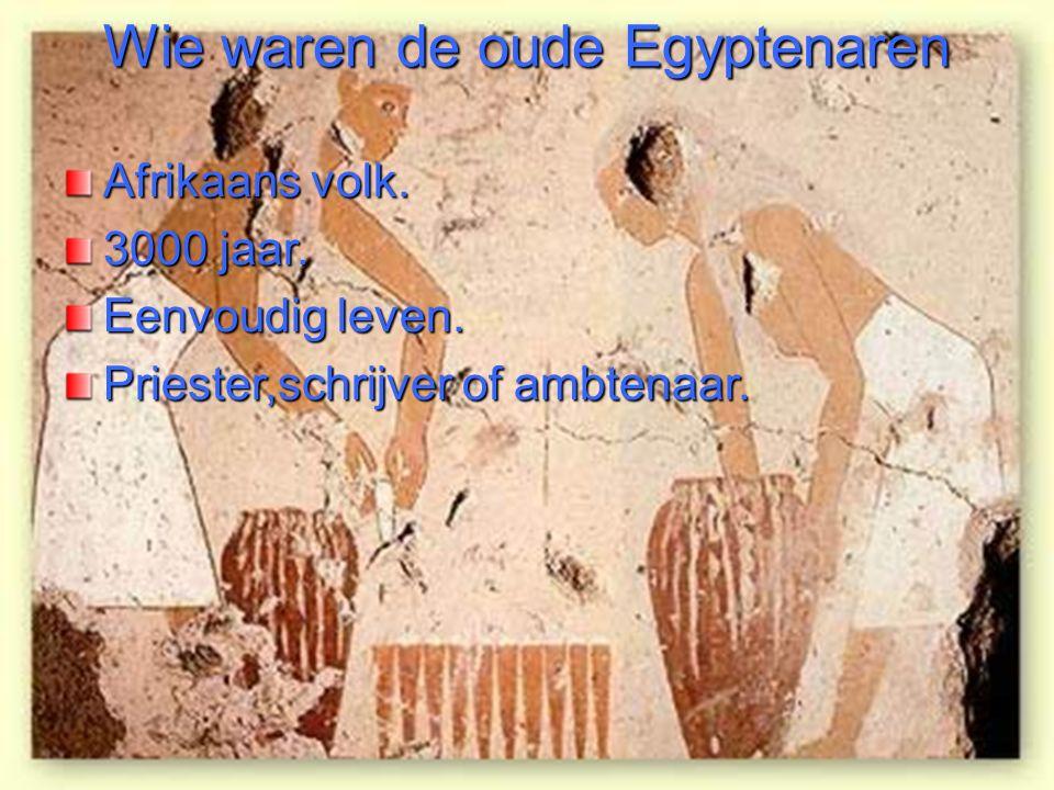 Wie waren de oude Egyptenaren