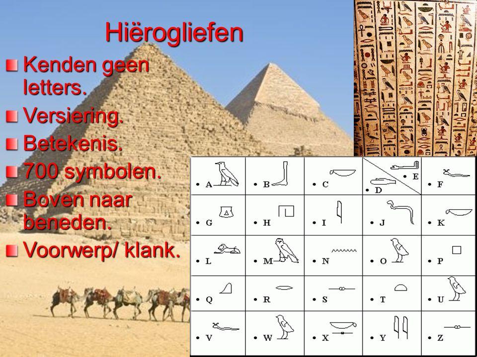 Hiërogliefen Kenden geen letters. Versiering. Betekenis. 700 symbolen.