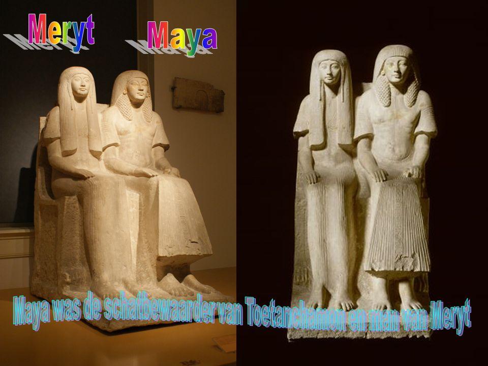 Maya was de schatbewaarder van Toetanchamon en man van Meryt