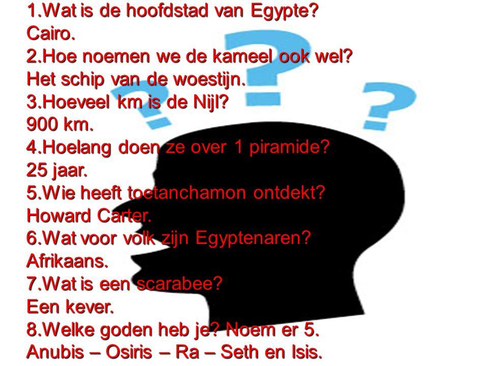 1.Wat is de hoofdstad van Egypte