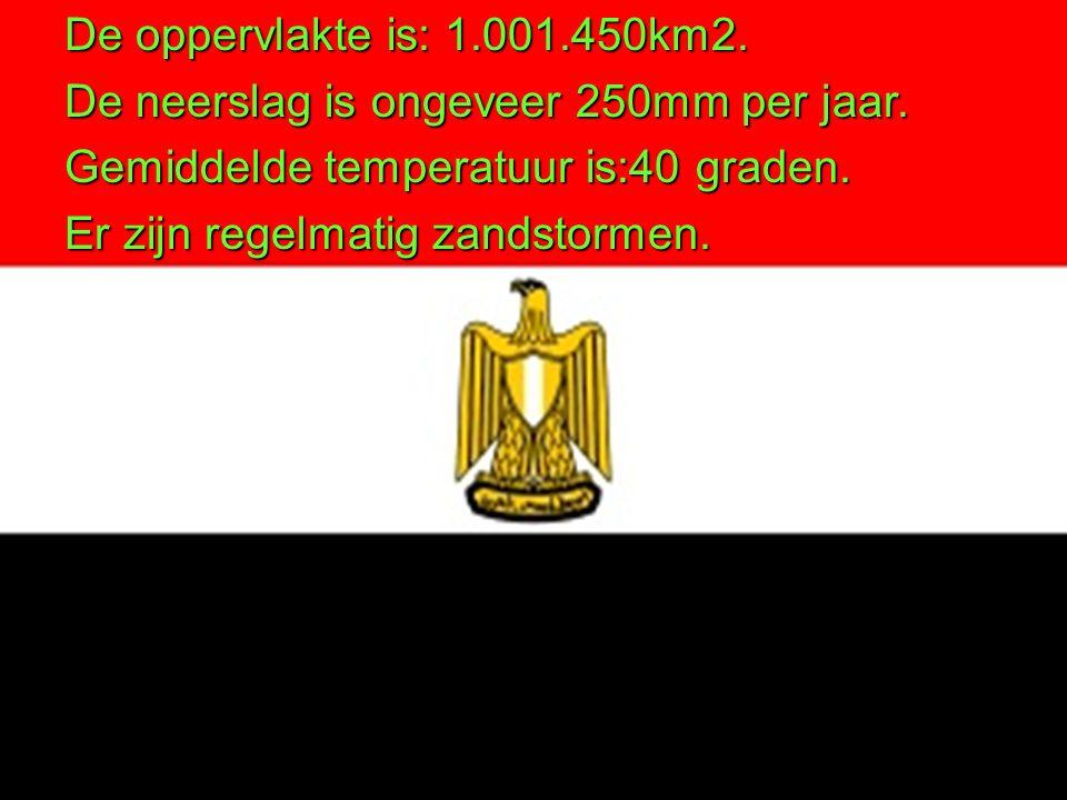 De oppervlakte is: 1.001.450km2. De neerslag is ongeveer 250mm per jaar. Gemiddelde temperatuur is:40 graden.