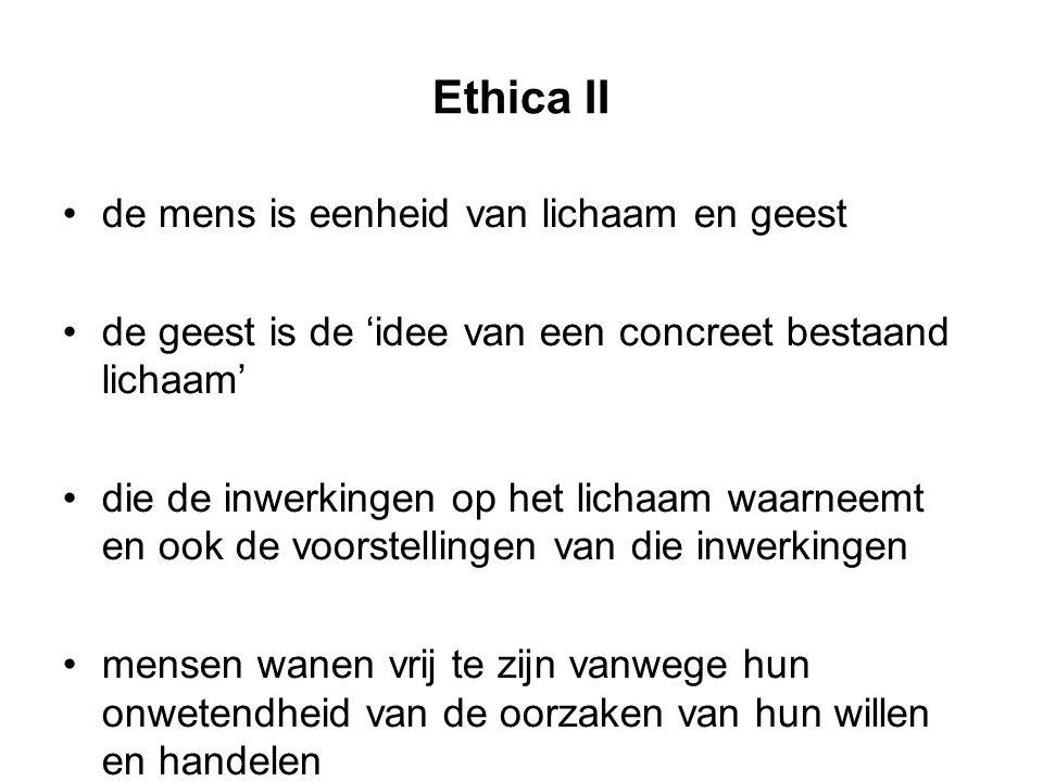 Ethica II de mens is eenheid van lichaam en geest