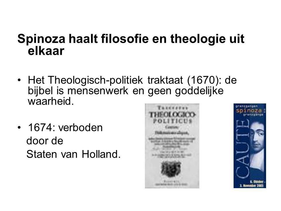 Spinoza haalt filosofie en theologie uit elkaar