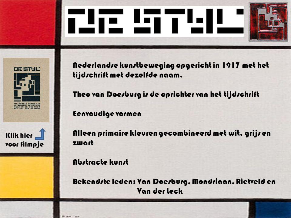 Theo van Doesburg is de oprichter van het tijdschrift
