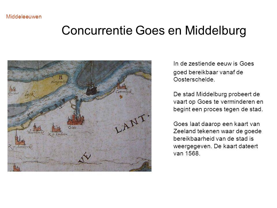 Middeleeuwen Concurrentie Goes en Middelburg