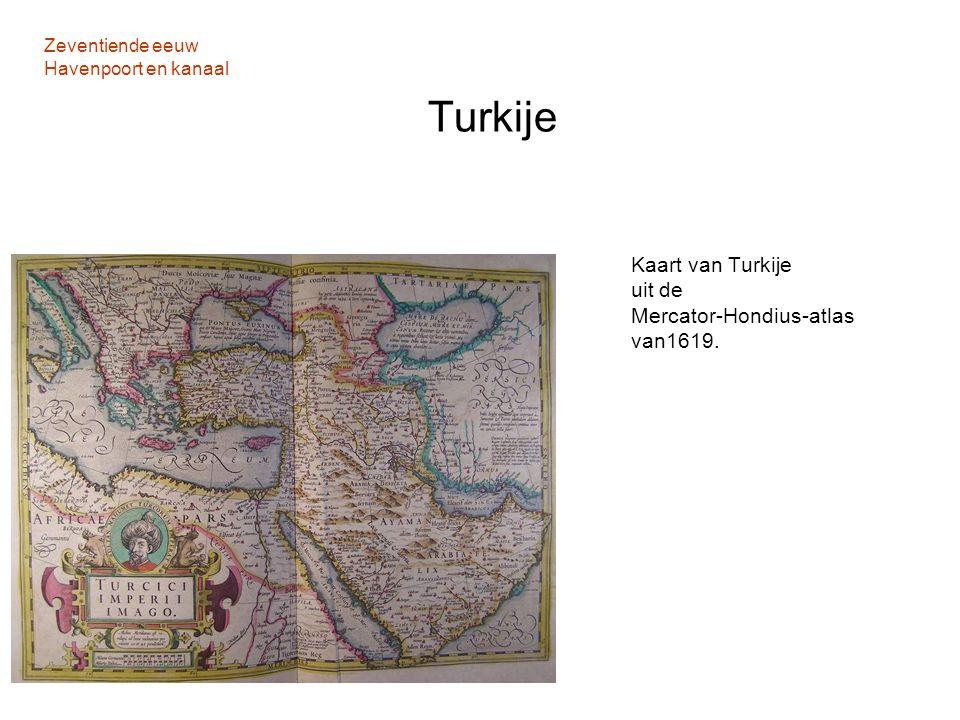 Zeventiende eeuw Havenpoort en kanaal Turkije