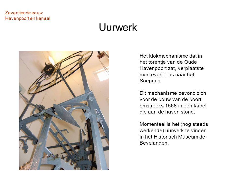 Zeventiende eeuw Havenpoort en kanaal Uurwerk