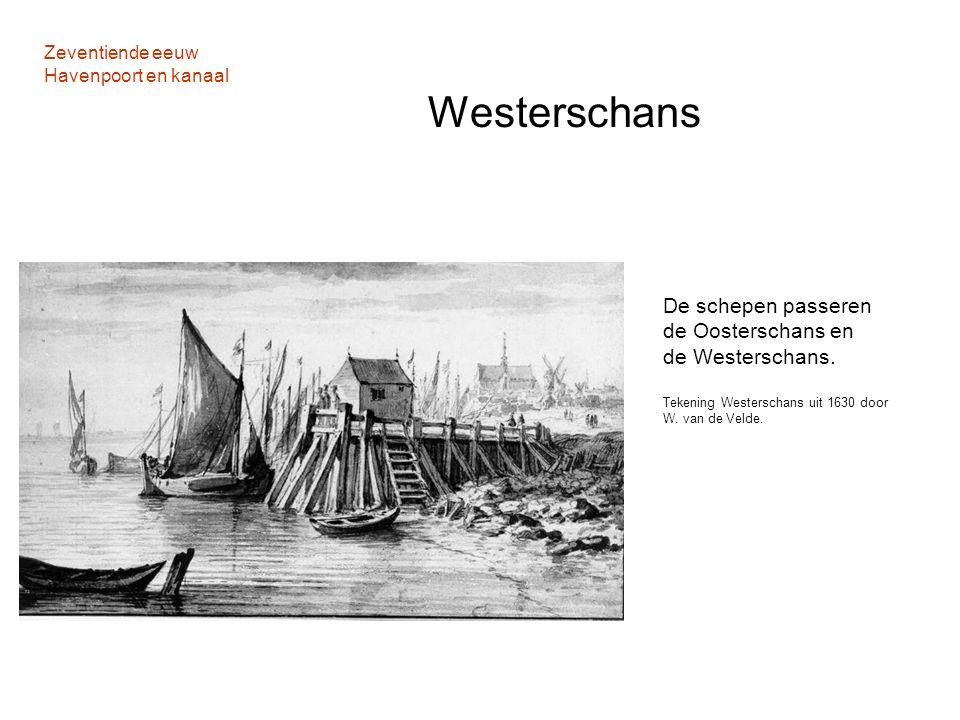 Zeventiende eeuw Havenpoort en kanaal Westerschans