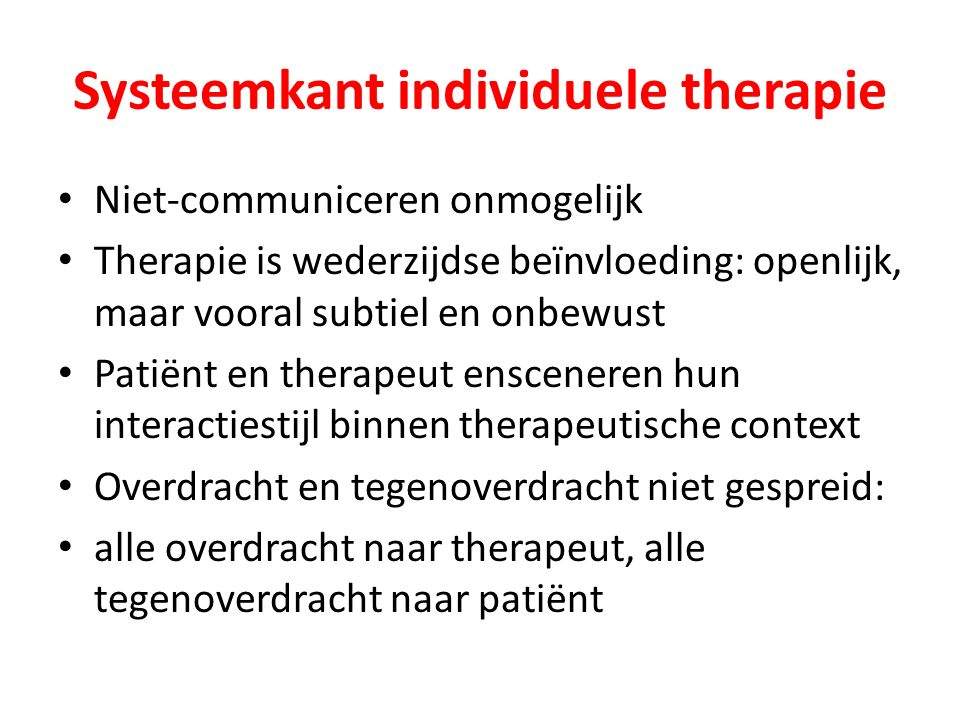 Systeemkant individuele therapie