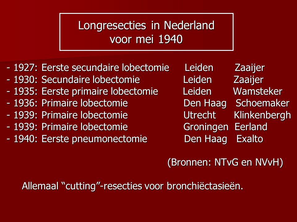 Longresecties in Nederland voor mei 1940