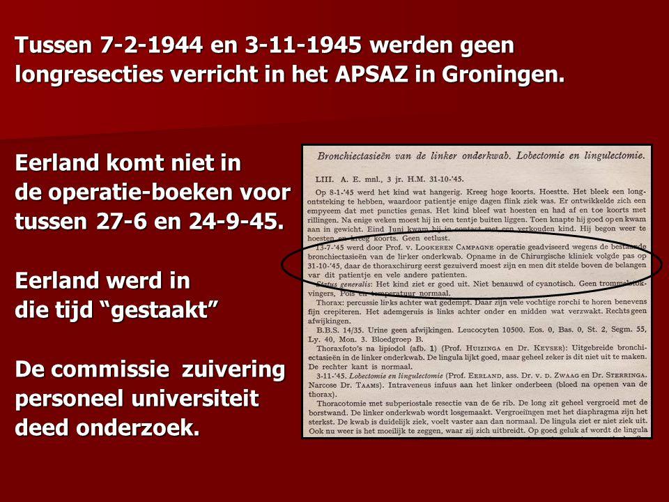 Tussen 7-2-1944 en 3-11-1945 werden geen