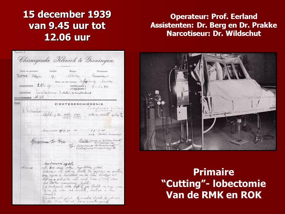 15 december 1939 van 9.45 uur tot 12.06 uur