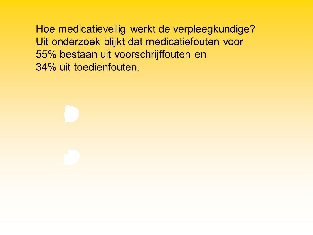 Hoe medicatieveilig werkt de verpleegkundige