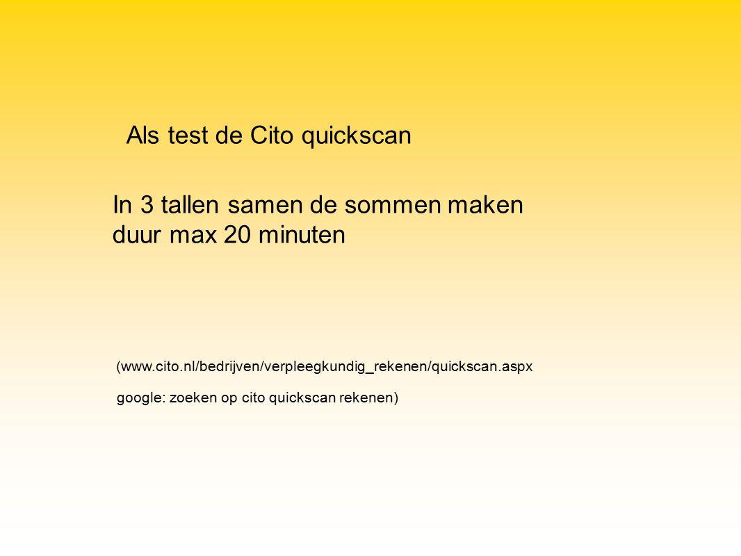 Als test de Cito quickscan