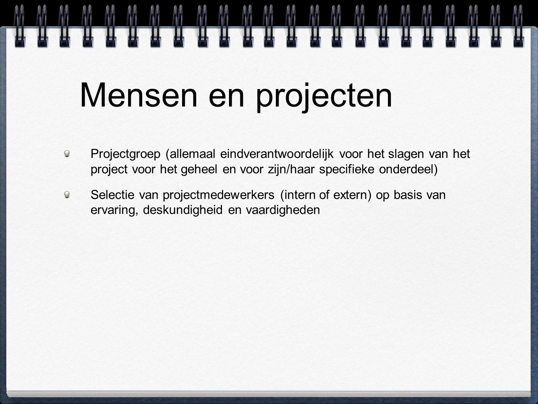 Mensen en projecten