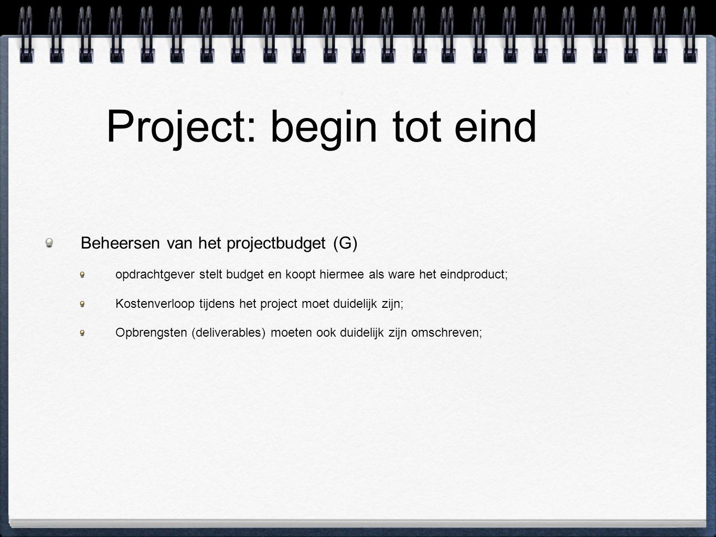 Project: begin tot eind