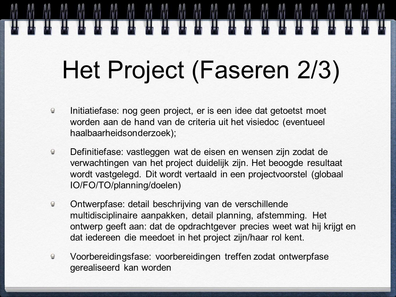 Het Project (Faseren 2/3)