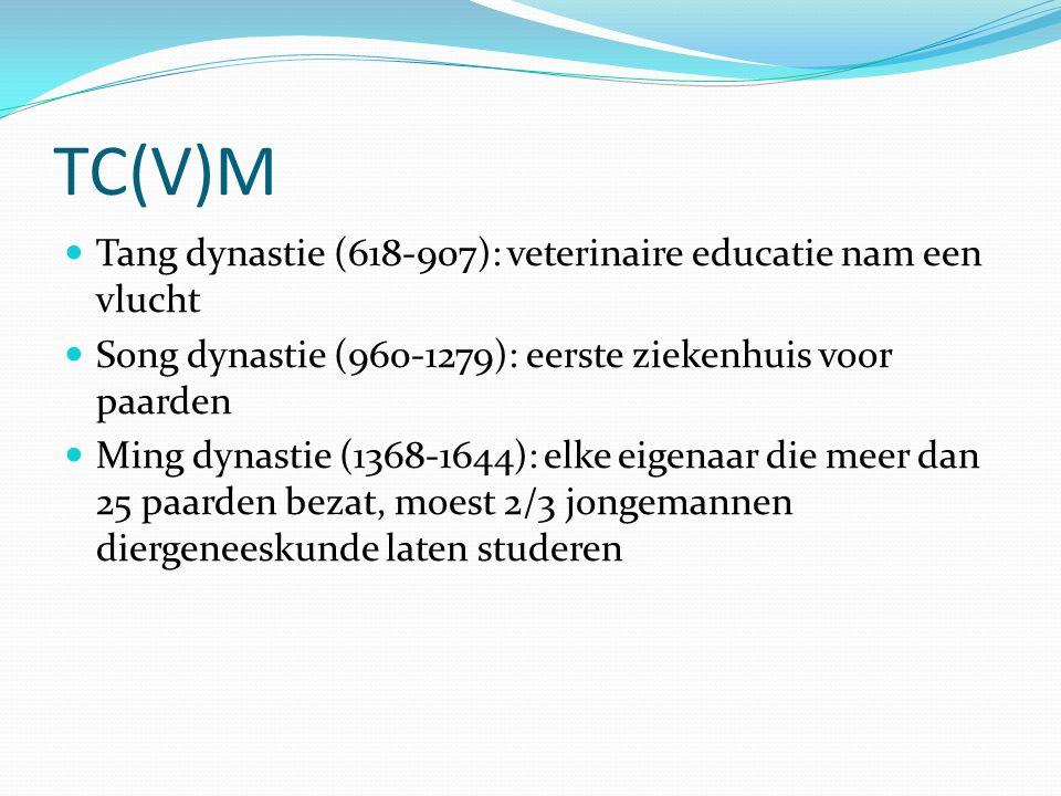 TC(V)M Tang dynastie (618-907): veterinaire educatie nam een vlucht