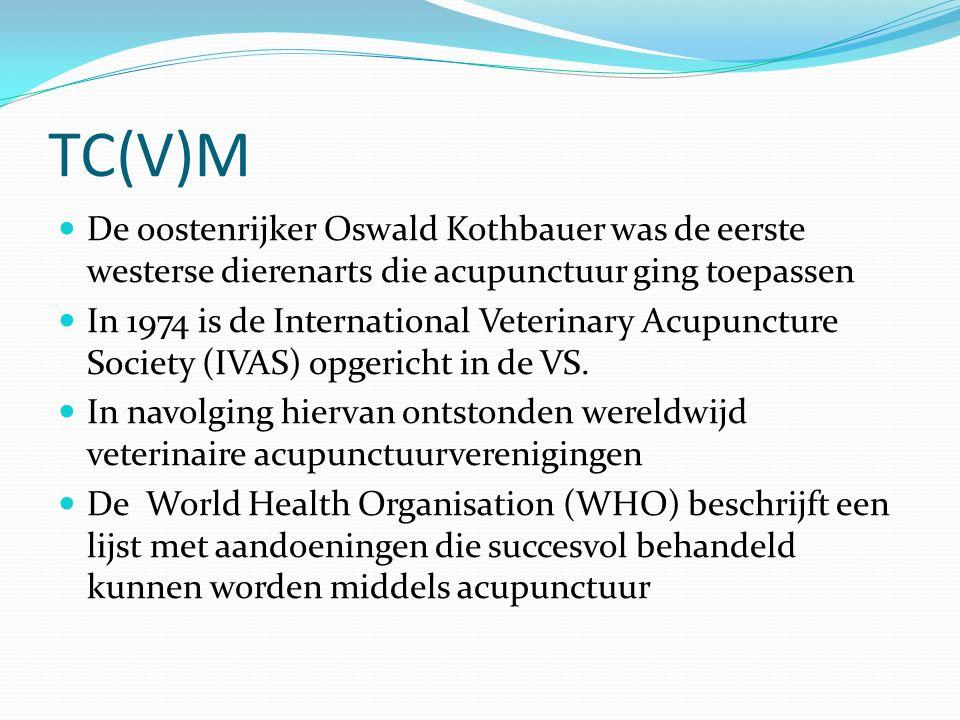TC(V)M De oostenrijker Oswald Kothbauer was de eerste westerse dierenarts die acupunctuur ging toepassen.