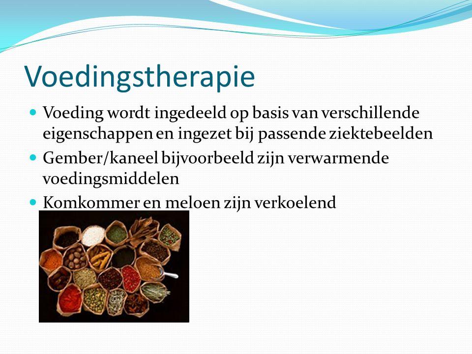 Voedingstherapie Voeding wordt ingedeeld op basis van verschillende eigenschappen en ingezet bij passende ziektebeelden.