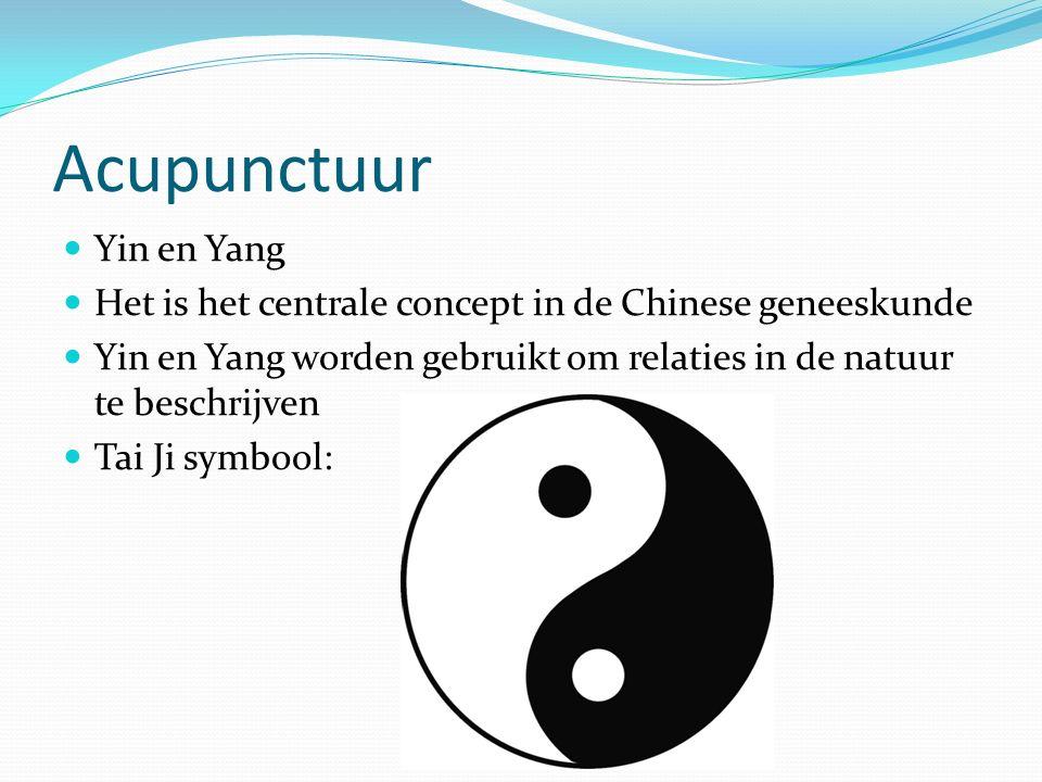 Acupunctuur Yin en Yang