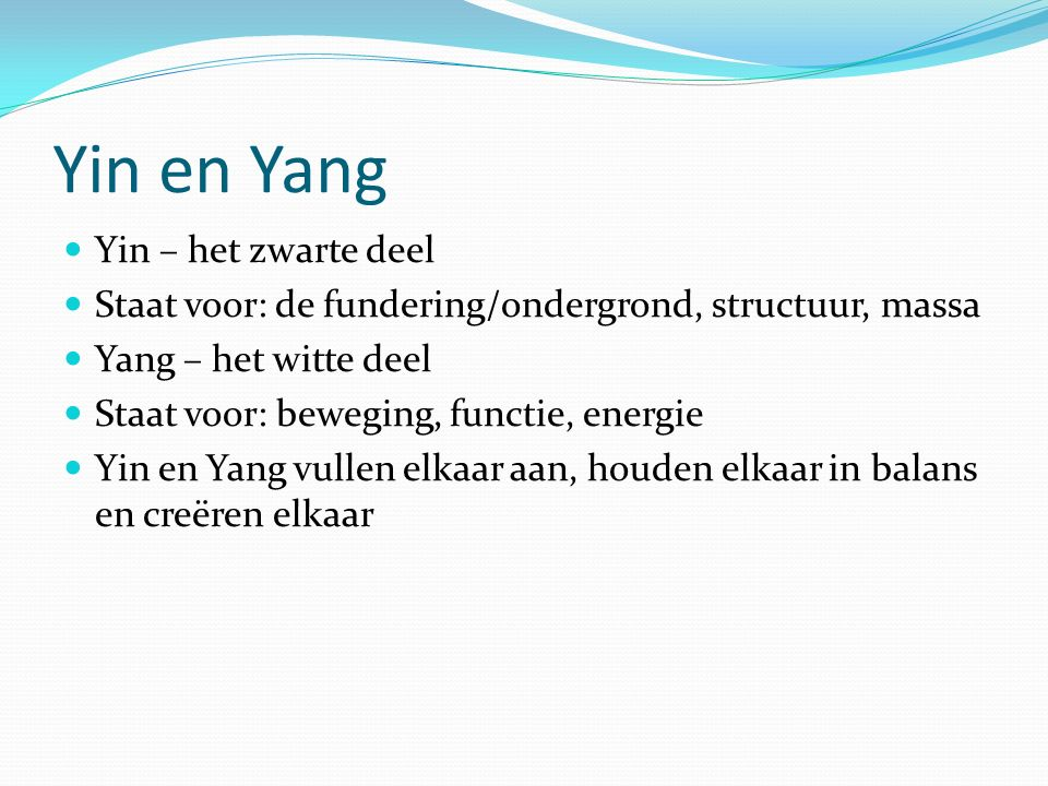 Yin en Yang Yin – het zwarte deel
