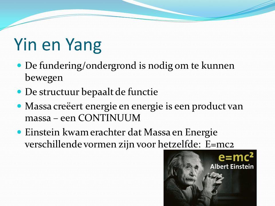 Yin en Yang De fundering/ondergrond is nodig om te kunnen bewegen