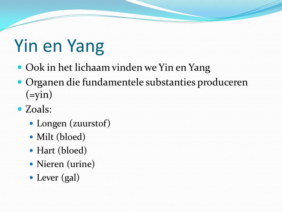 Yin en Yang Ook in het lichaam vinden we Yin en Yang