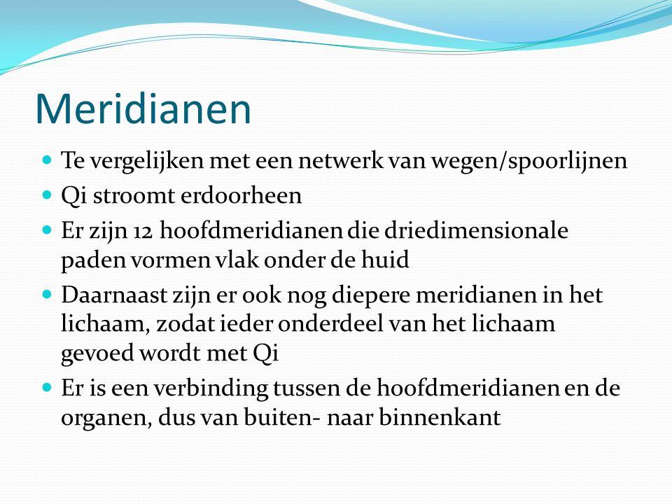 Meridianen Te vergelijken met een netwerk van wegen/spoorlijnen